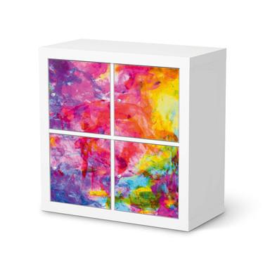 Klebefolie IKEA Kallax Regal 4 Türen - Abstract Watercolor