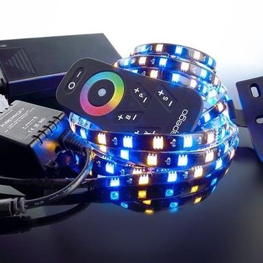 LED Stripe Set 5050-150-Rgb&2700K-2.5M in Schwarz W 1200lm