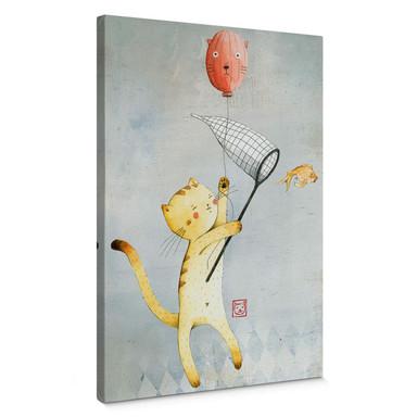 Leinwand Loske - Katze mit Ballon
