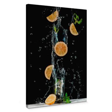 Leinwandbild Belenko - Splashing Lemonade