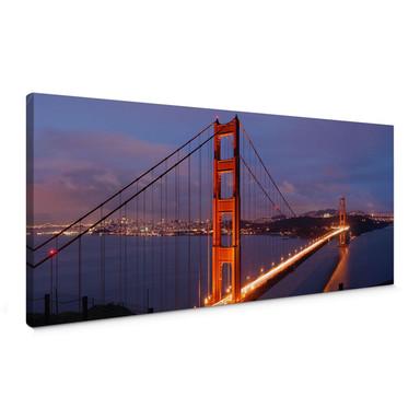 Leinwandbild Golden Gate Bridge Panorama