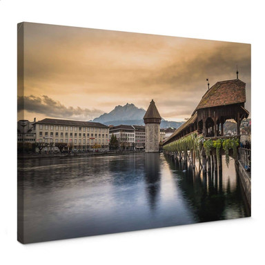 Leinwandbild Huber - Old Town Lucerne