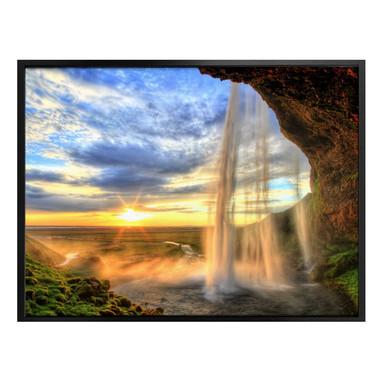 Poster Seljalandsfoss Wasserfall