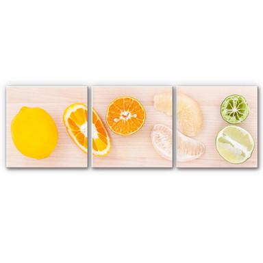 Wandbild Limonaden-Rezept (3-teilig)