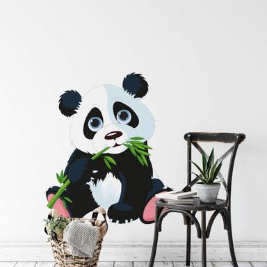 Wandsticker Naschender Panda