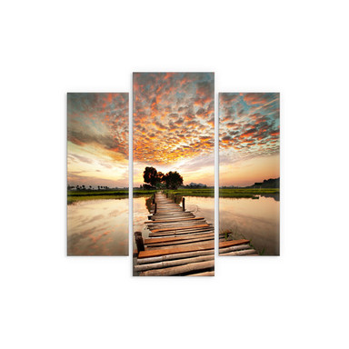 Acrylglasbild To the other Side (3-teilig)