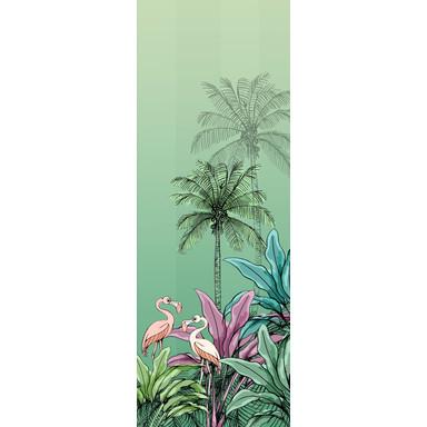 Fototapete Jungle Flamingo