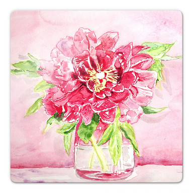 Glasbild Toetzke - Bouquet for Mavis - quadratisch