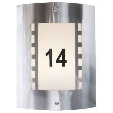 Hausnummern für Leuchte Wall I in Silber