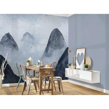 Livingwalls Fototapete Designwalls Misty Rocks Berge - Bild 1