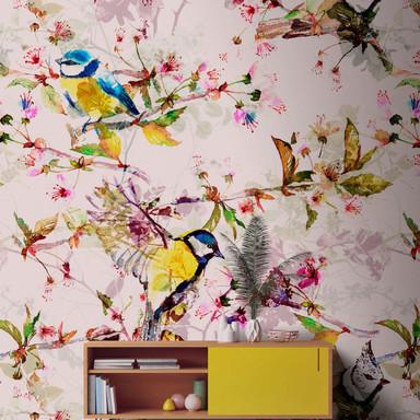 Livingwalls Fototapete Walls by Patel songbirds 2 - Bild 1