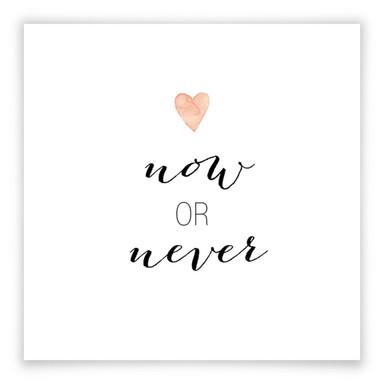 Poster Confetti & Cream - Now or Never