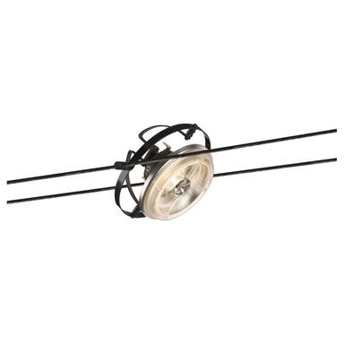 Tenseo Seilsystem, Seilleuchte QRB, dreh- und schwenkbar, QR111. schwarz