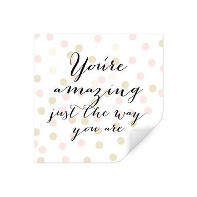Wallprint Confetti & Cream - You are amazing