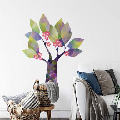 Wandtattoo Blanz - Blumenbaum