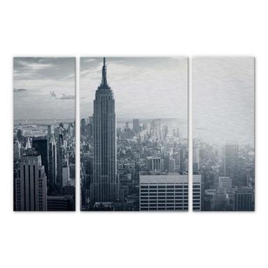 Alu Dibond Bild The Empire State Building (3-teilig)