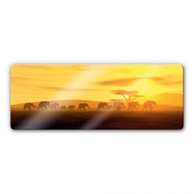 Glasbild Die Wanderung Panorama