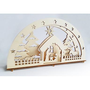 Holzkunst Weihnachtskrippe Christkind