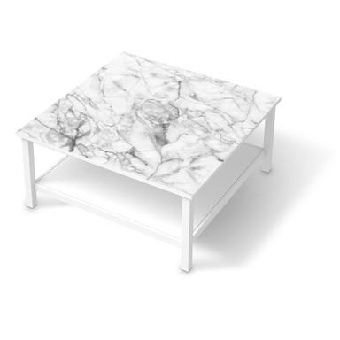 Klebefolie IKEA Hemnes Tisch 90x90cm - Marmor weiss