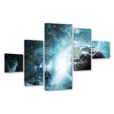 Leinwandbild In einer fernen Galaxie (5-teilig)
