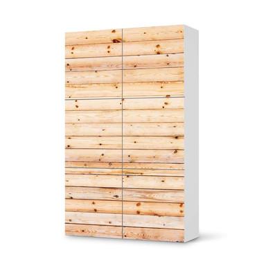 Möbel Klebefolie IKEA Besta Schrank 6 Türen (hoch) - Bright Planks- Bild 1