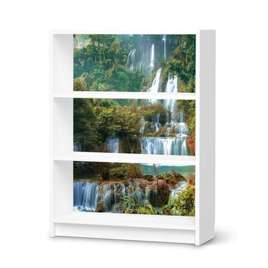Möbelfolie IKEA Billy Regal 3 Fächer - Rainforest