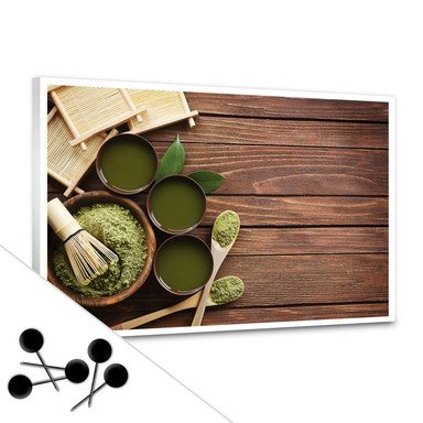Pinnwand Matcha Tea inkl. 5 Pinnadeln