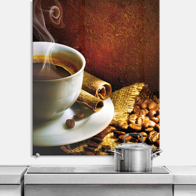 Spritzschutz Coffee 1 - hochkant