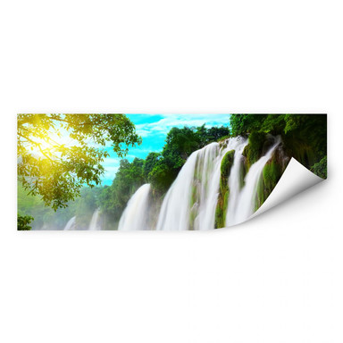 Wallprint Blaue Lagune - Panorama
