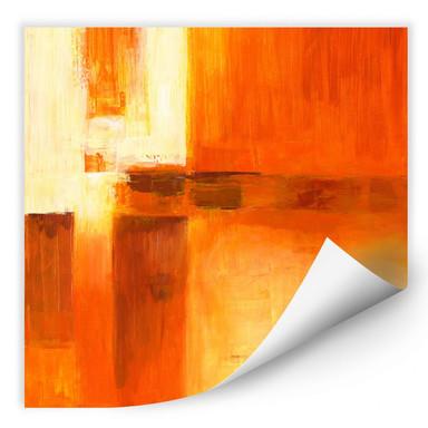Wallprint Schüssler - Composition in Orange and Brown