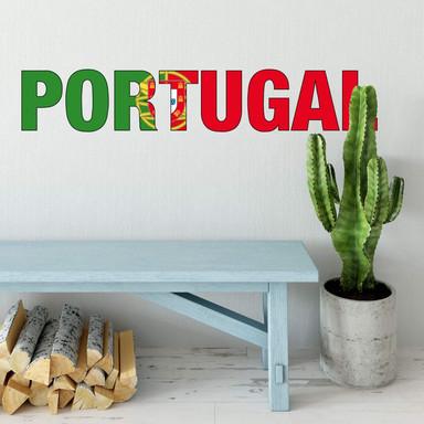 Wandsticker Portugal Schriftzug