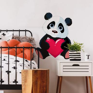Wandtattoo Panda mit Herz