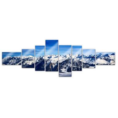 Acrylglasbild Alpenpanorama (8-teilig)