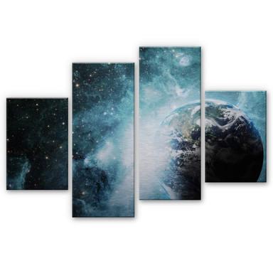 Alu Dibond Bild In einer fernen Galaxie (4-teilig)