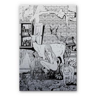 Alu Dibond-Silbereffekt - Drawstore - In the Livingroom