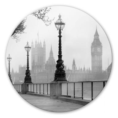 Glasbild Palace of Westminster - rund