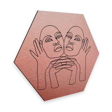 Hexagon - Alu-Dibond-Kupfereffekt - Hariri - Phylli