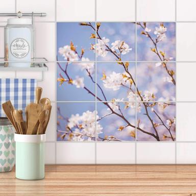 Klebefliesen - Apple Blossoms - 9er Set