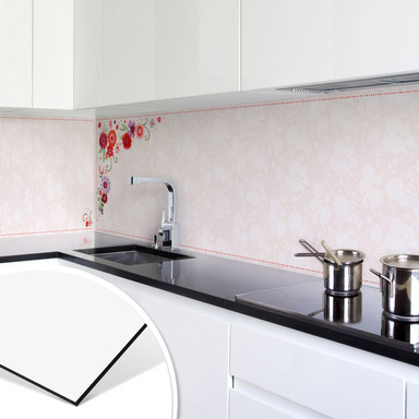 Küchenrückwand - Alu Dibond - Blanz - Blütentraum