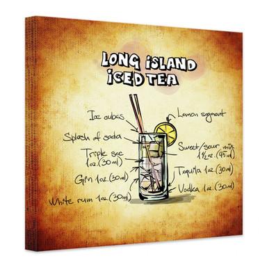 Leinwandbild Long Island Iced Tea - Rezept