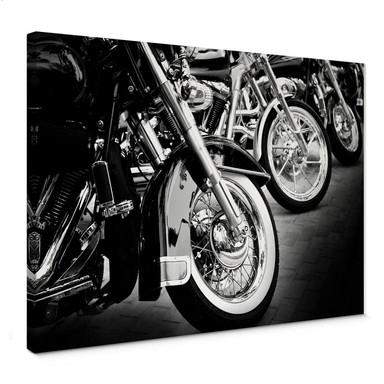 Leinwandbild Motorcycle Wheels