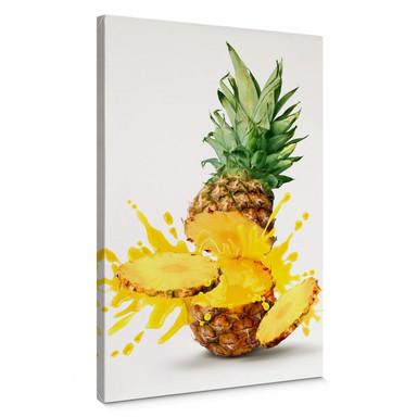 Leinwandbild Splashing Pineapple