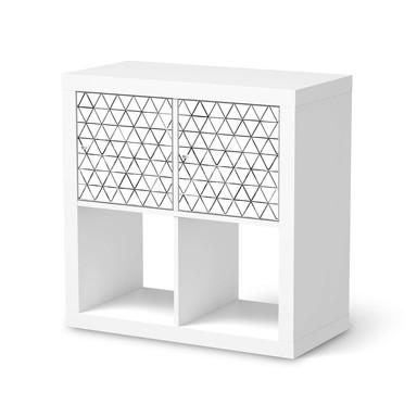 Möbel Klebefolie IKEA Expedit Regal 2 Türen (quer) - Mediana