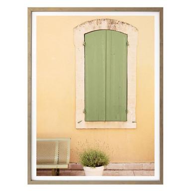 Poster Hugonnard - Grünes Holzfenster