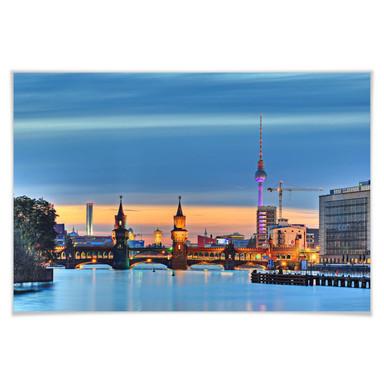 Poster Oberbaumbrücke Berlin
