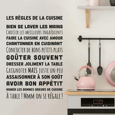 Wandtattoo Les Règles de la cuisine