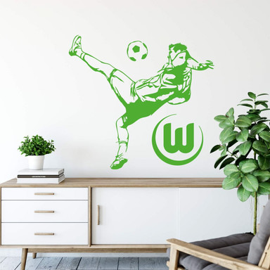 Wandtattoo VfL Wolfsburg - Fussballspieler