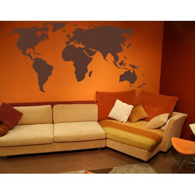 Wohnansicht - Wandtattoo Weltkarte