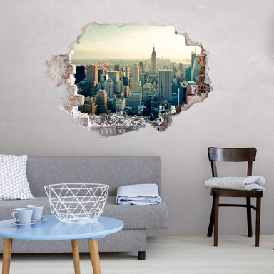 3D Wandtattoo Skyline von New York City