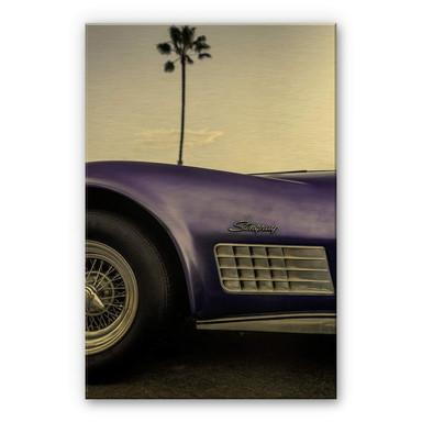 Alu-Dibond-Goldeffekt Ochlich - Violet Oldtimer